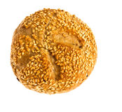 Bun with sesame seeds Royalty Free Stock Photos