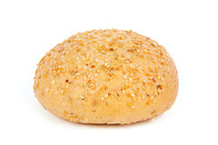 Bun with sesame seeds Royalty Free Stock Images