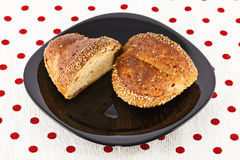 Bun with sesame seeds Stock Photo