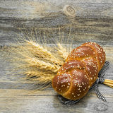 Bun with sesame seeds and ears Stock Photography