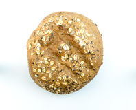 Bun with sesame seeds and oat flakes Stock Image