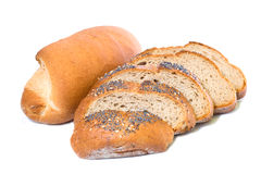 Bun and slices of bread Royalty Free Stock Photography