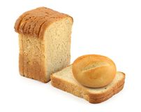 Bun and toast bread Royalty Free Stock Photo