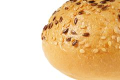 Bun, topped with sesame seeds Royalty Free Stock Image