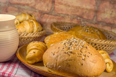 Bun and various pastry Royalty Free Stock Photo