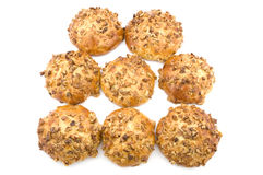 Bun with walnut closeup Stock Photo