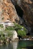 Buna spring and Dervish house Bosnia and Herzegovina Royalty Free Stock Photography