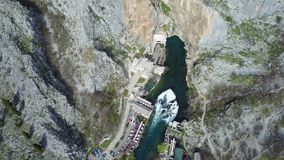 Buna spring. Vrelo Bune is the natural and architectural ensemble at the Buna river spring near Blagaj kasaba village-town and a part of the wider `Townscape Royalty Free Stock Photo