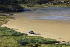 Bunbeg strand arkivbilder