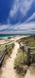 bunbury bana för strand som är sandig till Fotografering för Bildbyråer