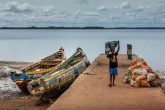 Bunce wyspa, Sierra Leone, afryka zachodnia - Brytyjski niewolniczy handel Obrazy Stock