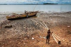 Bunce wyspa, Sierra Leone, afryka zachodnia - Brytyjski niewolniczy handel Zdjęcie Stock