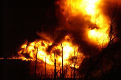 Buncefeld Fuel depot fire Royalty Free Stock Images