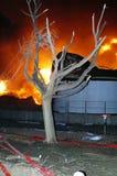Buncefeld Fuel depot fire Royalty Free Stock Photos