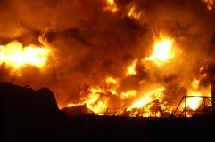 Buncefeld Fuel depot fire Stock Photos