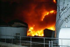 Buncefeld Fuel depot fire Royalty Free Stock Image