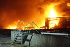 Buncefeld Fuel depot fire Royalty Free Stock Photo