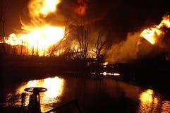 Buncefeld Fuel depot fire Stock Image