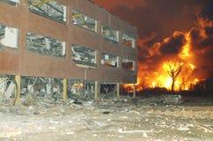 Buncefeld Fuel depot fire Stock Images