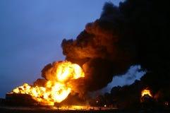 Buncefeld Fuel depot fire Stock Photo