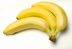A bunch of 3 Bananas Royalty Free Stock Photo
