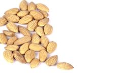 A bunch of almonds royalty free stock photo