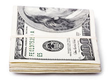 Folded 100 US$ Bills Royalty Free Stock Image