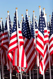 Bunch of American flags Royalty Free Stock Image