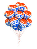 Bunch of american VOTE ballons Stock Photos