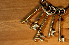 Bunch of antique keys Stock Images