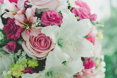 Bunch of artificial flower Stock Photo