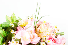 Bunch of artificial flowers Stock Photos