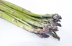 Bunch of asparagus. Typical spanish bunch of asparagus on white together Stock Image