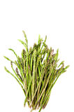 Bunch of asparagus heads vertical frame and isolated Royalty Free Stock Photo