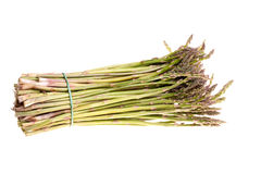 Bunch of Asparagus Isolated Royalty Free Stock Images