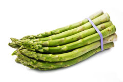 Bunch of asparagus  over a white background Stock Images