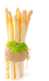 Bunch of asparagus with parsley Stock Photos