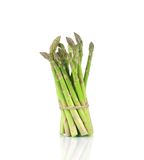 Bunch of asparagus tied up. Stock Images