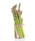 Bunch of asparagus tied up. Stock Image