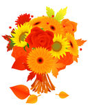 Bunch of autumn flowers Royalty Free Stock Images