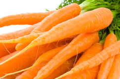 Bunch of Baby Carrots over white Royalty Free Stock Photo