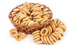Bunch of bagels in a basket Royalty Free Stock Images