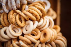A bunch of bagels Stock Photo