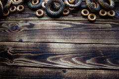 Bunch of bagels with poppy seeds Stock Image