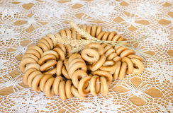 Bunch of bagels on the table Stock Photography