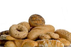 Bunch of bakery goods. Close up shot of a bunch of bakery goods royalty free stock images