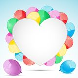 Bunch of Balloon with Heart Royalty Free Stock Photo