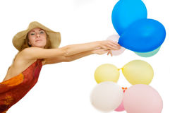 Bunch of balloons Royalty Free Stock Photo