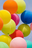 Bunch of balloons. Colored balloons on blue sky Stock Images