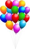 Bunch of balloons stock illustration